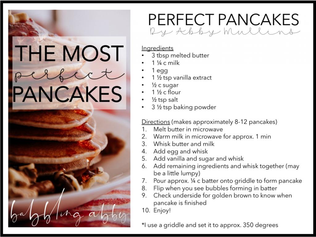 Perfect Homemade Pancake Recipe Recipe Homemade Pancake Recipe Perfect Pancake Recipe Best Homemade Pancakes