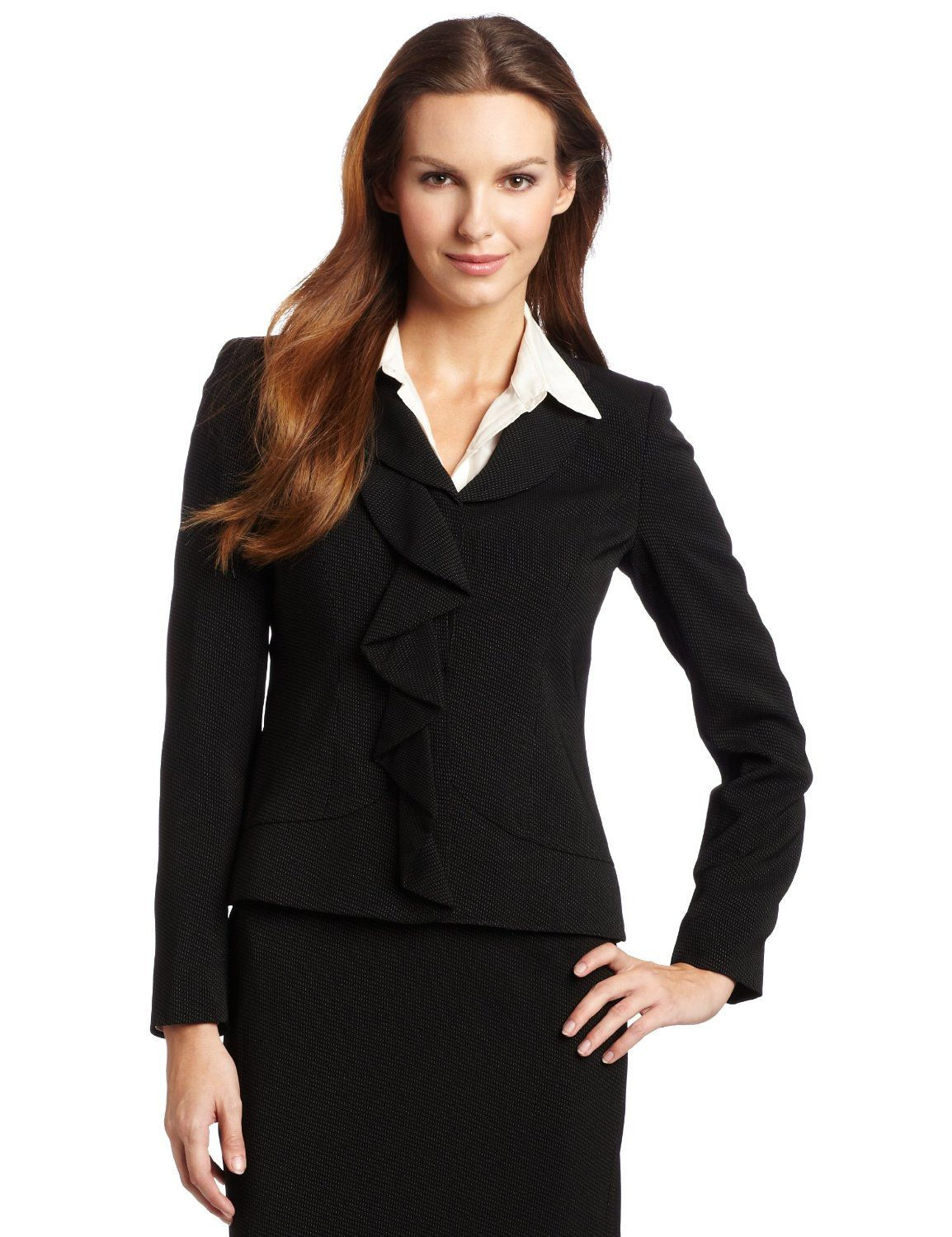 This is another very pretty business casual women's dress suit ...