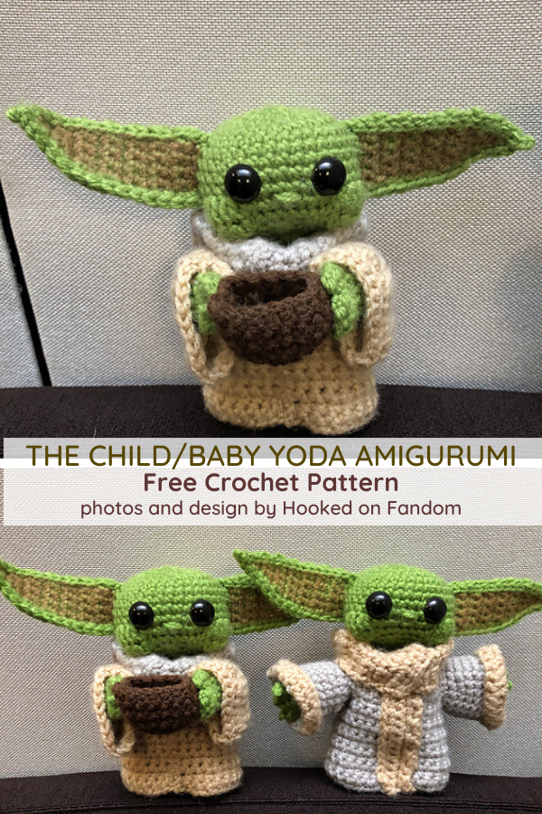Baby Yoda Free Crochet Pattern- So Cute, Look At The Wee Face! - Knit And Crochet Daily #cutecrochet