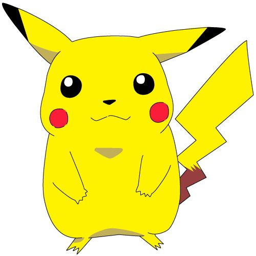 Pikachu cartoon. Pokemon characters clipart for