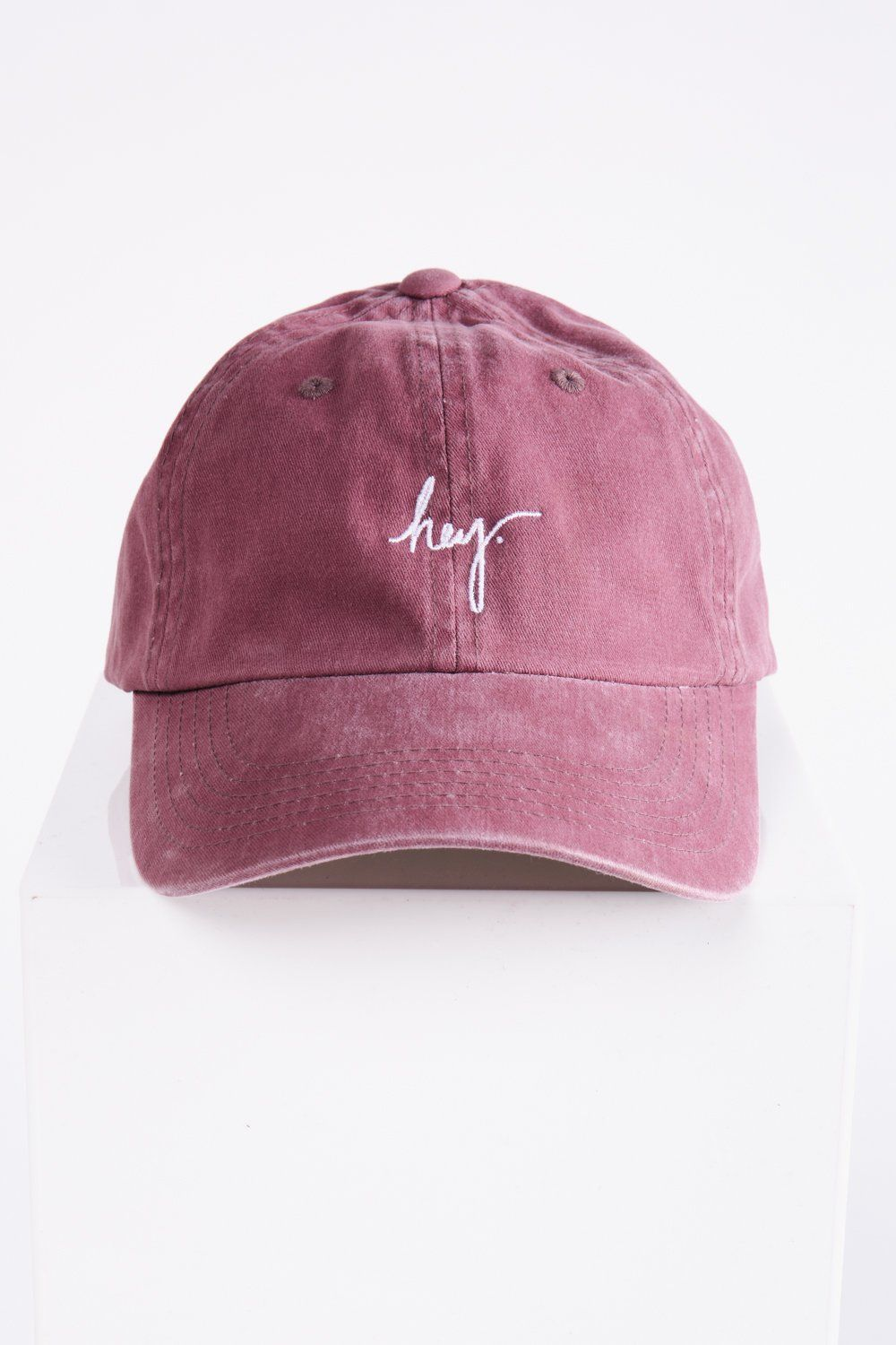 c4d01141ce1cba Piper & Scoot: The hey. Cap in Faded Burgundy | jewelry | Hats ...