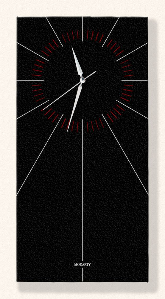 Black Composition, Special Design Wall Clock. Buy this canvas print Wall Clock from Modarty Art Gallery #art, #canvas, #design, #painting, #print, #poster, #decoration, #wallclock