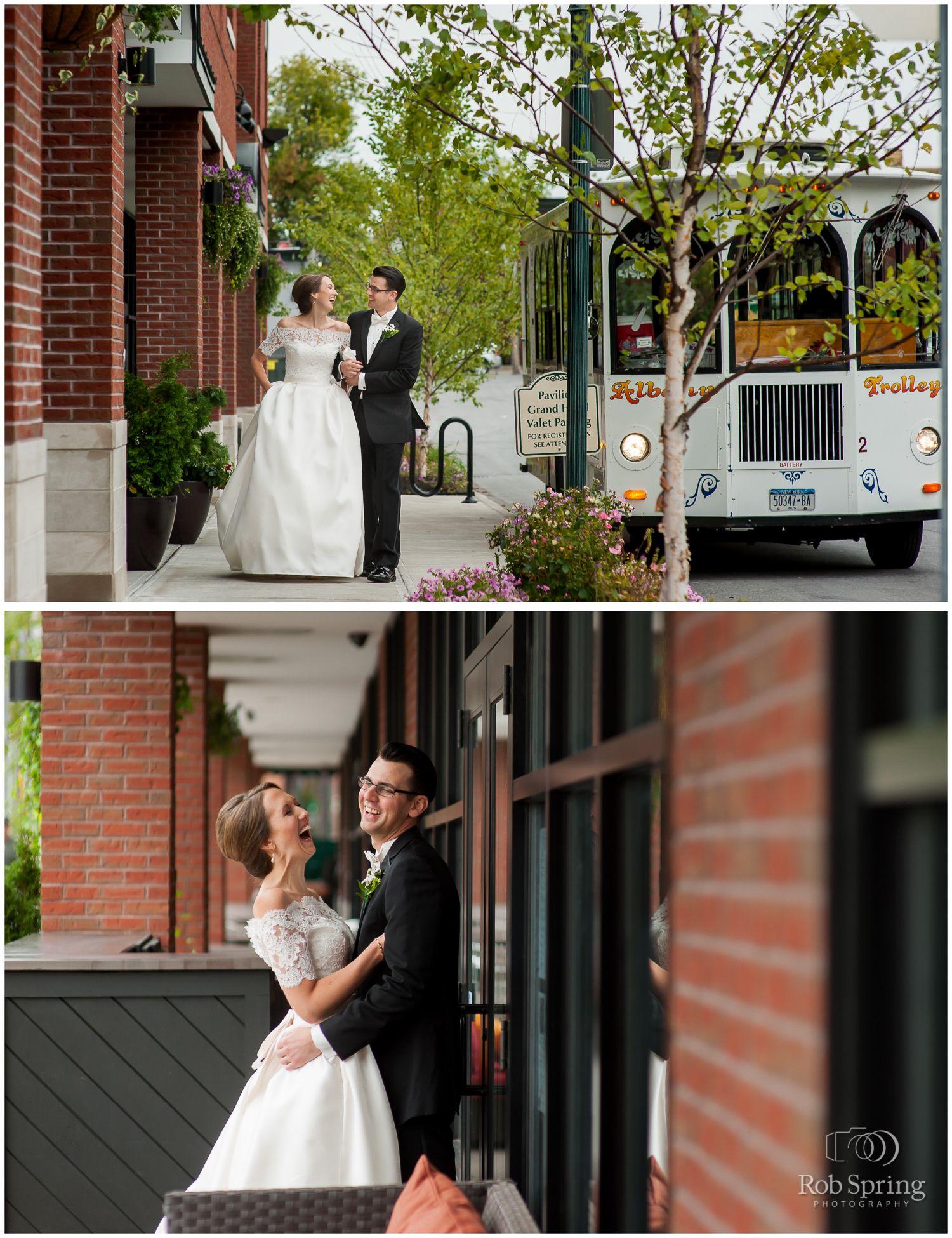 Wedding Photos With Albany Trolley Pavilion Grand Hotel Saratoga