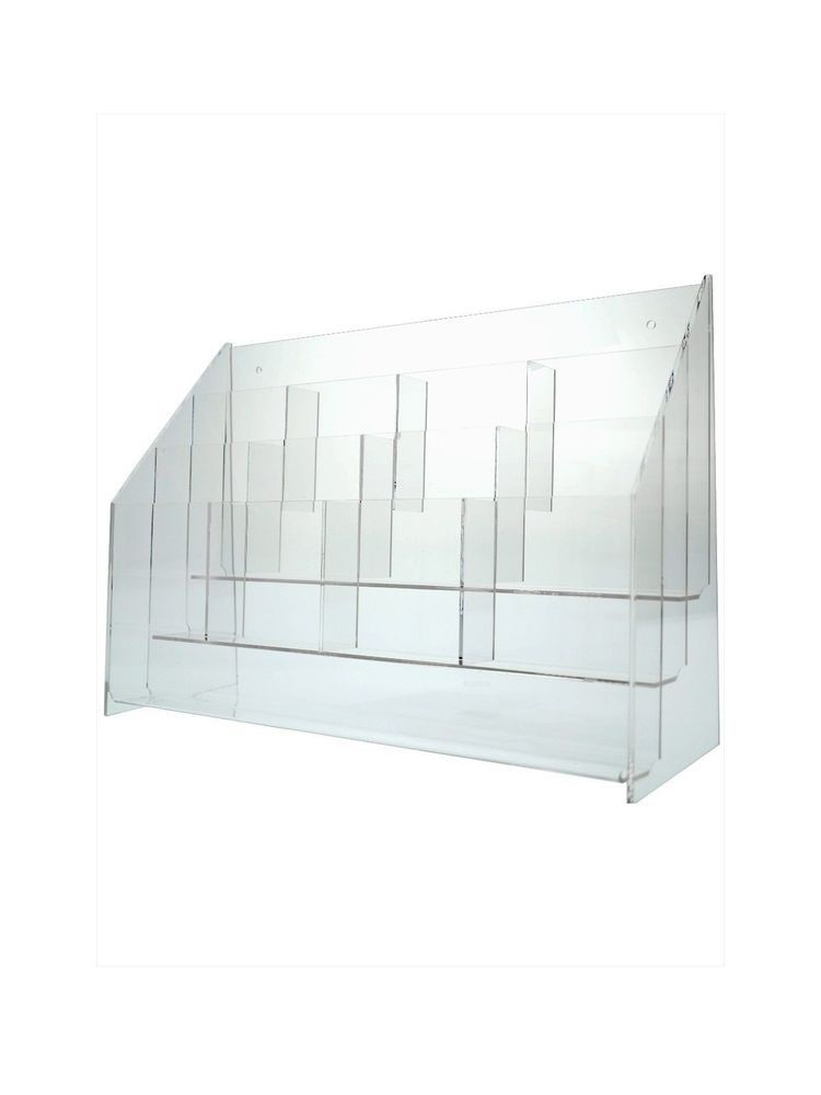 12 Slot Brochure Display Stand Literature Holder Fits Up To 4 W Space Saver Marketingholders Brochure Holders Brochure Display Space Savers