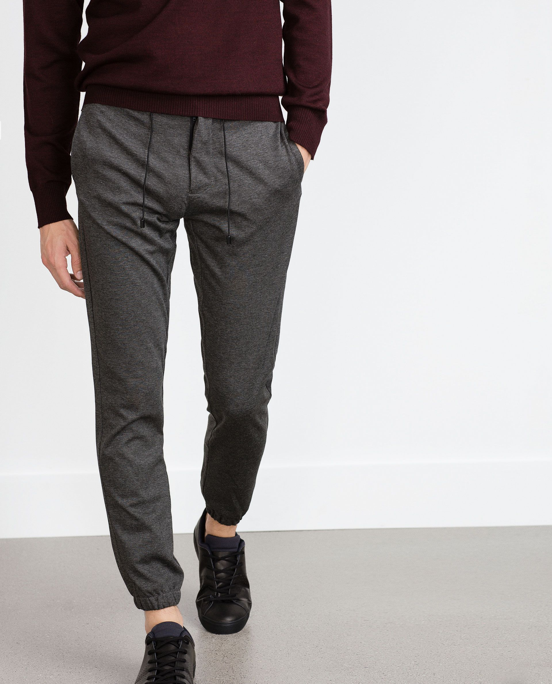 114f8ed8838 KNIT JOGGING TROUSERS - Joggers - Trousers - Man - COLLECTION AW15 | ZARA  United Kingdom