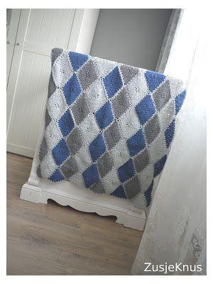 Haken Crochet Blanket Deken Babydeken Diamond