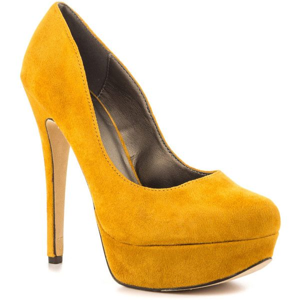 Michael Antonio Women's Lily Sue - Mustard Micro ($55) ❤ liked on Polyvore  featuring