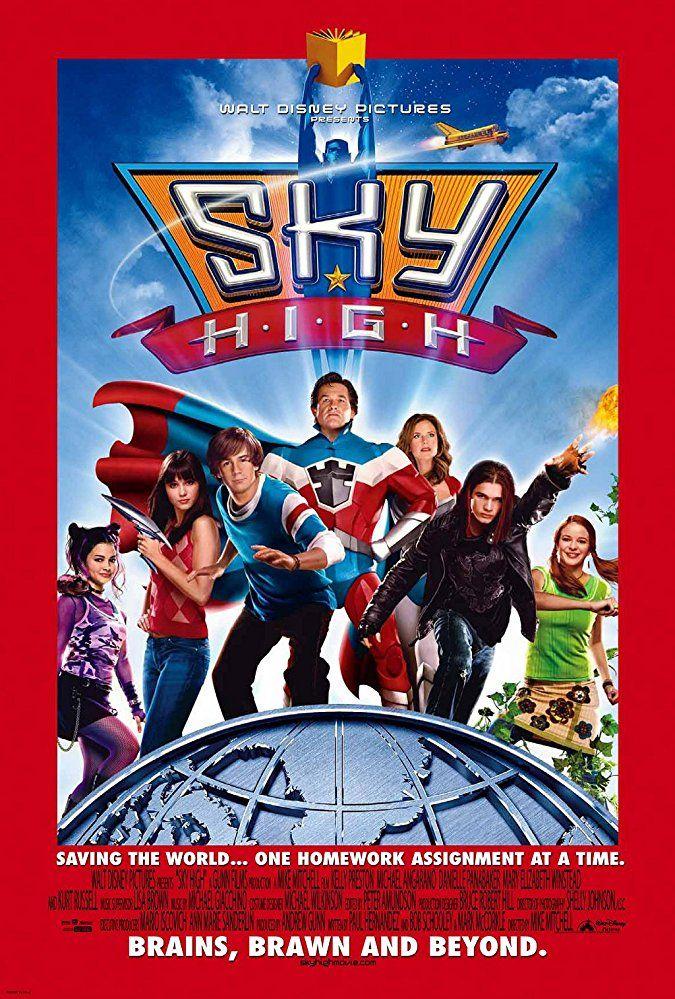 Sky High 2005 Pelicula Disney Channel Peliculas Viejas De Disney Cielo Alto