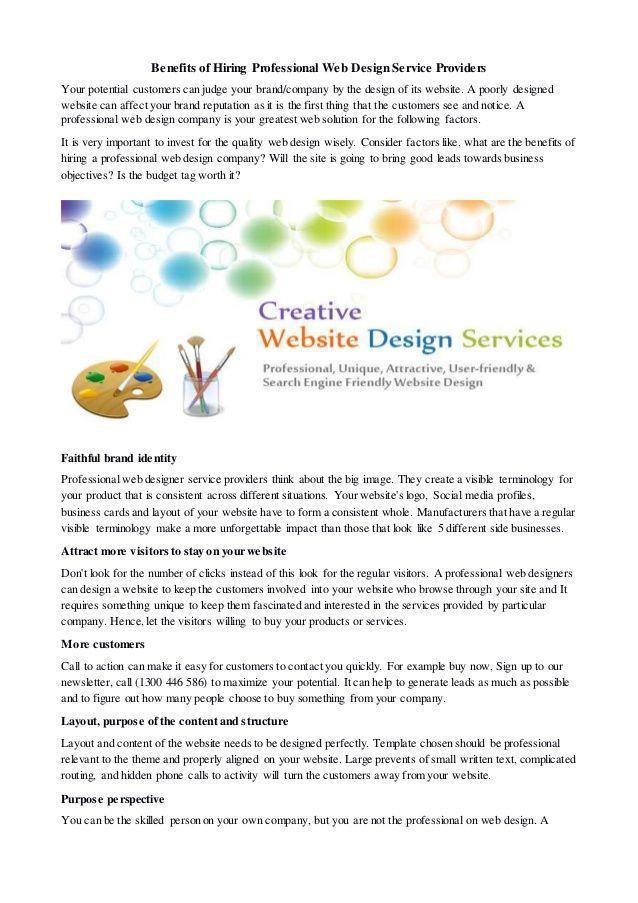 Benefits Of Hiring Professional Web Design Service Providers Professional Web Design Web Design Services Web Design