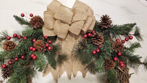 Free Shipping! Christmas Wreath, Winter Wreath, Holiday Wreath, Wreath for Front Door, Double Door W #doubledoorwreaths