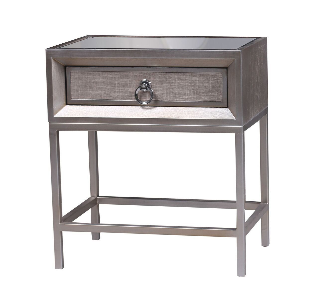 Statements By J Cassidy Nightstand W Drawer And Mirrored Top 22 5