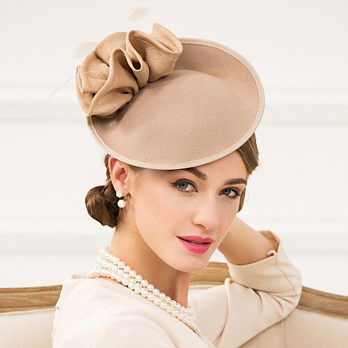 Women's Feather / Polyester / Wool Headpiece-Wedding / Special Occasion / Casual Fascinators / Hats 1 Piece 2019 - Can $58.37 #fascinatorstyles