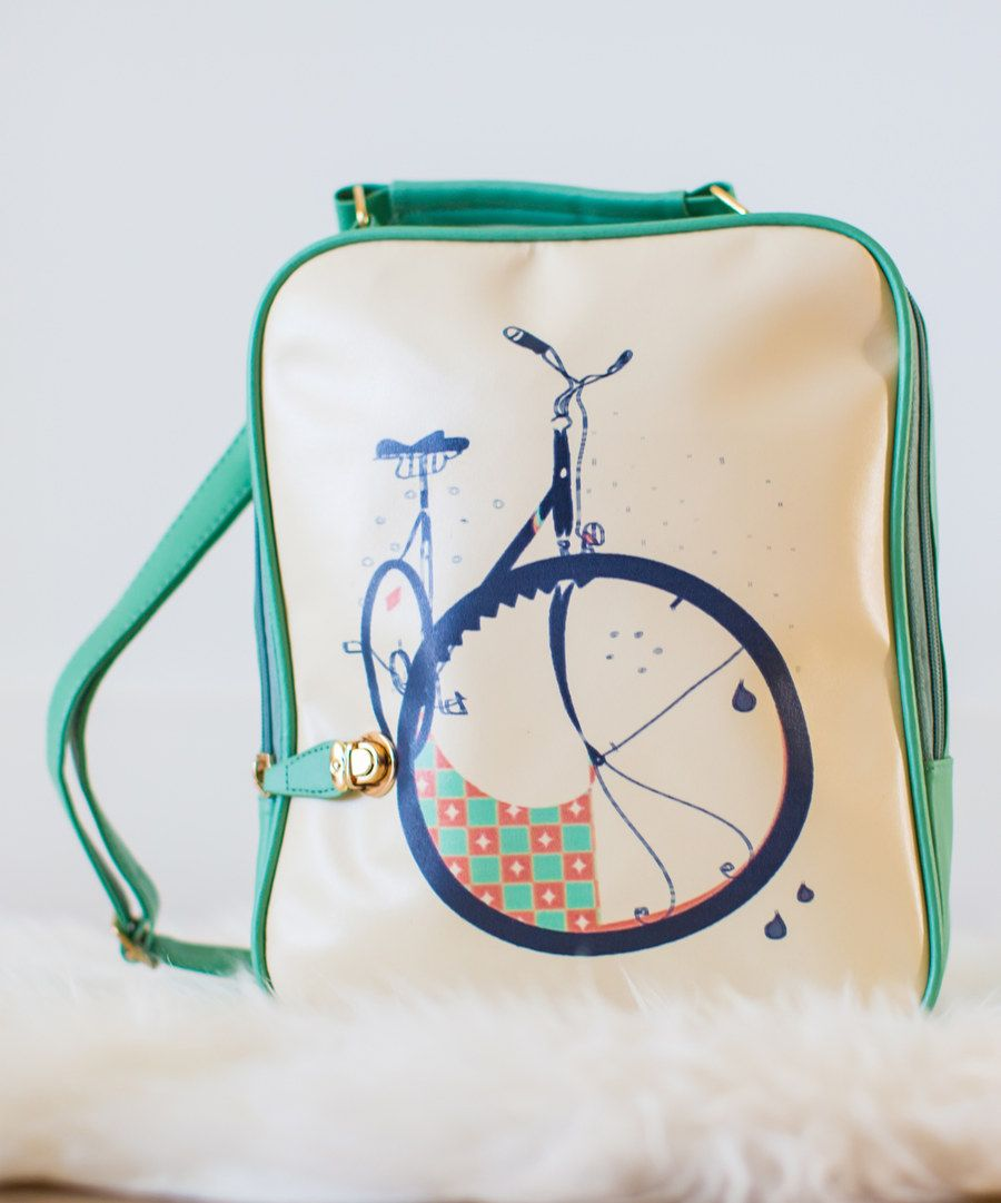 Look at this Tan & Mint Parisian Bicycle Travel Bag on #zulily today!