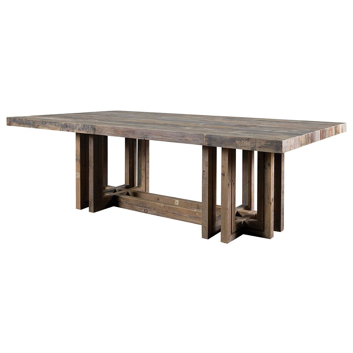 Cartago Dining Table Mixed Reclaimed Woods 96 W X 47 D X 31 H