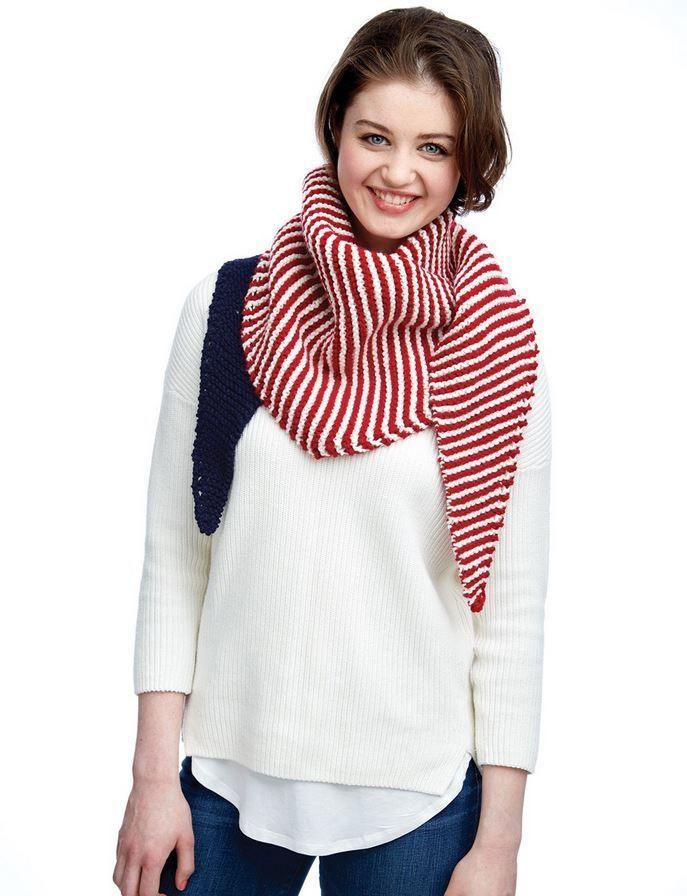 Color Block Kerchief | Knit Patterns | Pinterest | Chal y Tejido