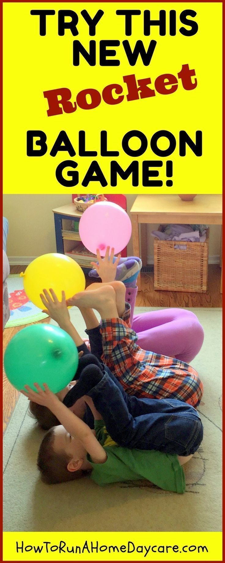 Try this NEW ROCKET Balloon Game Gym games for kids