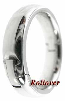 Mens Silver Hinged Expandable Bands Comfort Fit Wedding Ring For
