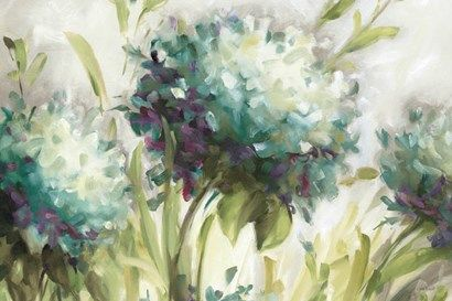 Hydrangea Field At Framedart Com Hydrangea Painting Painting Prints Flower Painting