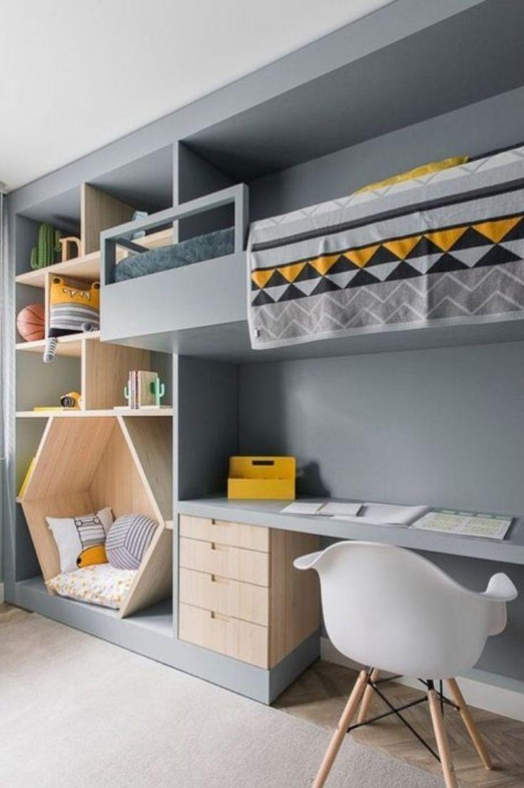 Schlafzimmer Ideen für jedes Kind – 30 Fabulous Room Ideas für Kinder, die Farben lieben New 2019 - myoyun.org/deko #bedroomlighting