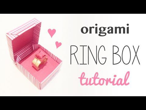 Origami Ring Box For Valentines Day Crafty Pinterest Origami