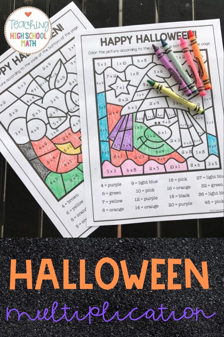 Halloween Multiplication Color By Number Halloween Multiplication Halloween Math Holiday Math [ 1102 x 735 Pixel ]