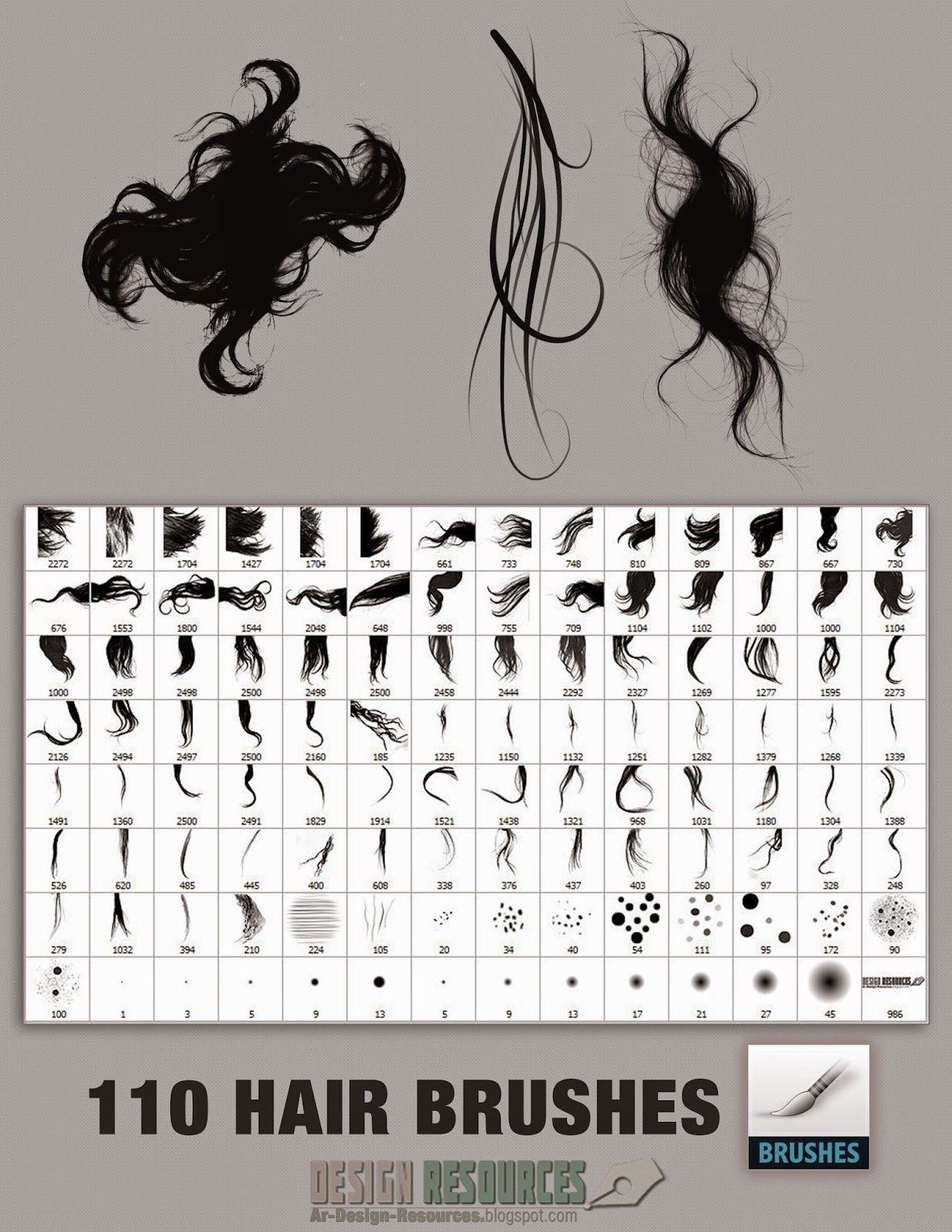 110 Hair Brushes Photoshop Add Ons Photoshop Brushes Free