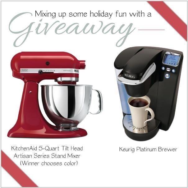 Last hours! Win a KitchenAid Mixer or a Keurig machine! Kick off