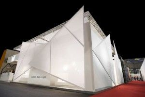 The exhibition space Lighting Promenade, on display at the Salone del Mobile in 2015, has been designed by Migliore+Servetto Architects for Luceplan.
