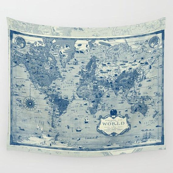 World map fleece blanket throw blue and cream mercator map cozy world map fleece blanket throw blue and cream mercator map cozy sofa couch bed travel decor historical soft winter warm blanket cozy and iron gumiabroncs Images