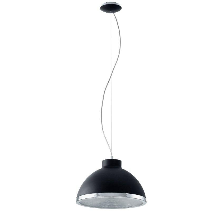 lampara de techo colgante cupula industrial negra