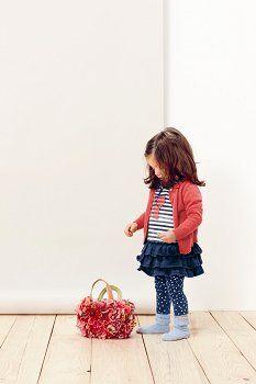 SANETTA - SUKIENKA Z FALBANAMI - Buy4Kids - sukienki dla dziewczynek