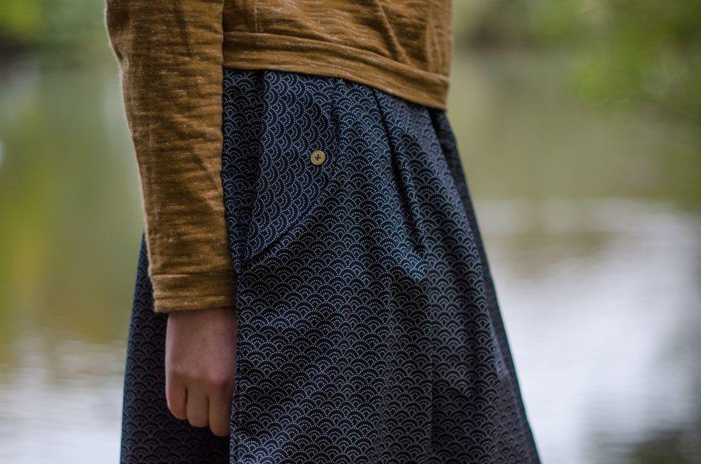 Wedgwoodrock aus japanischen Wellen – kreamino | Nähen - Kleidung ...