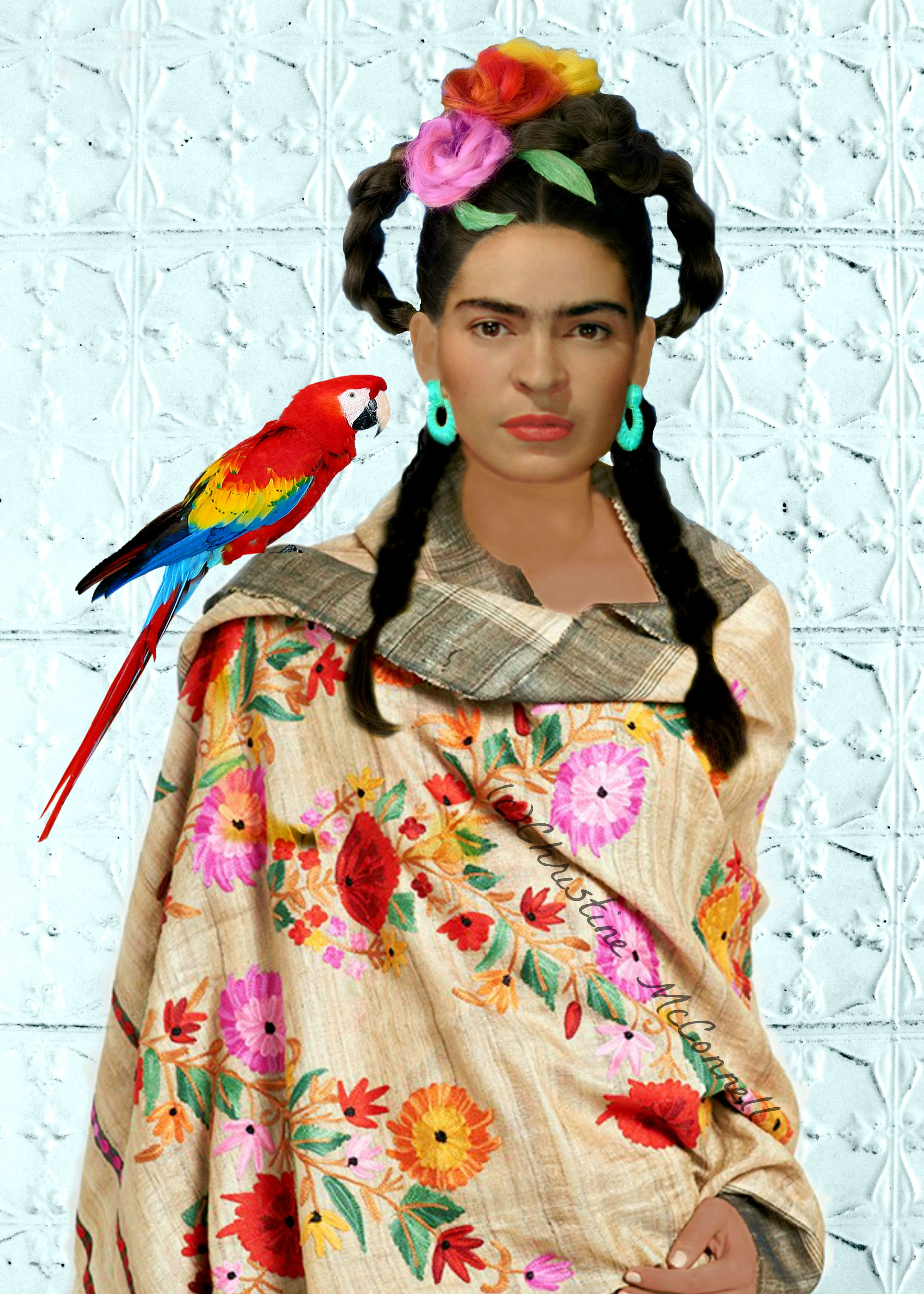 Frida Kahlo With Parrot Art Print From Wwwartdecadenceetsy