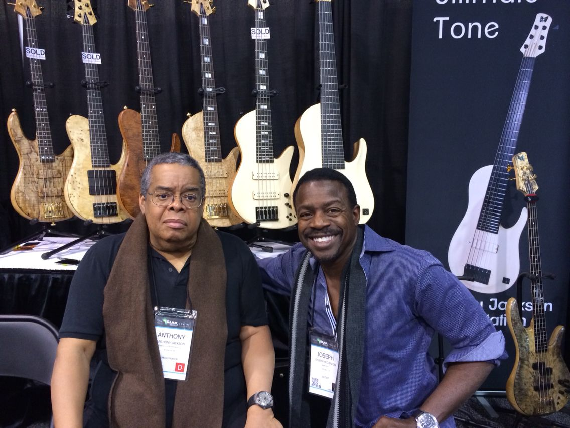 Anthony Jackson at NAMM this year