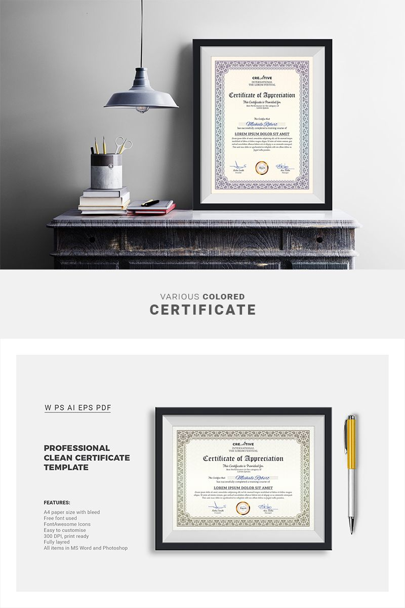 Certificate Of Appreciation Template For Word Magnificent Corporate & Modern Word Multipurpose Certificate Template .