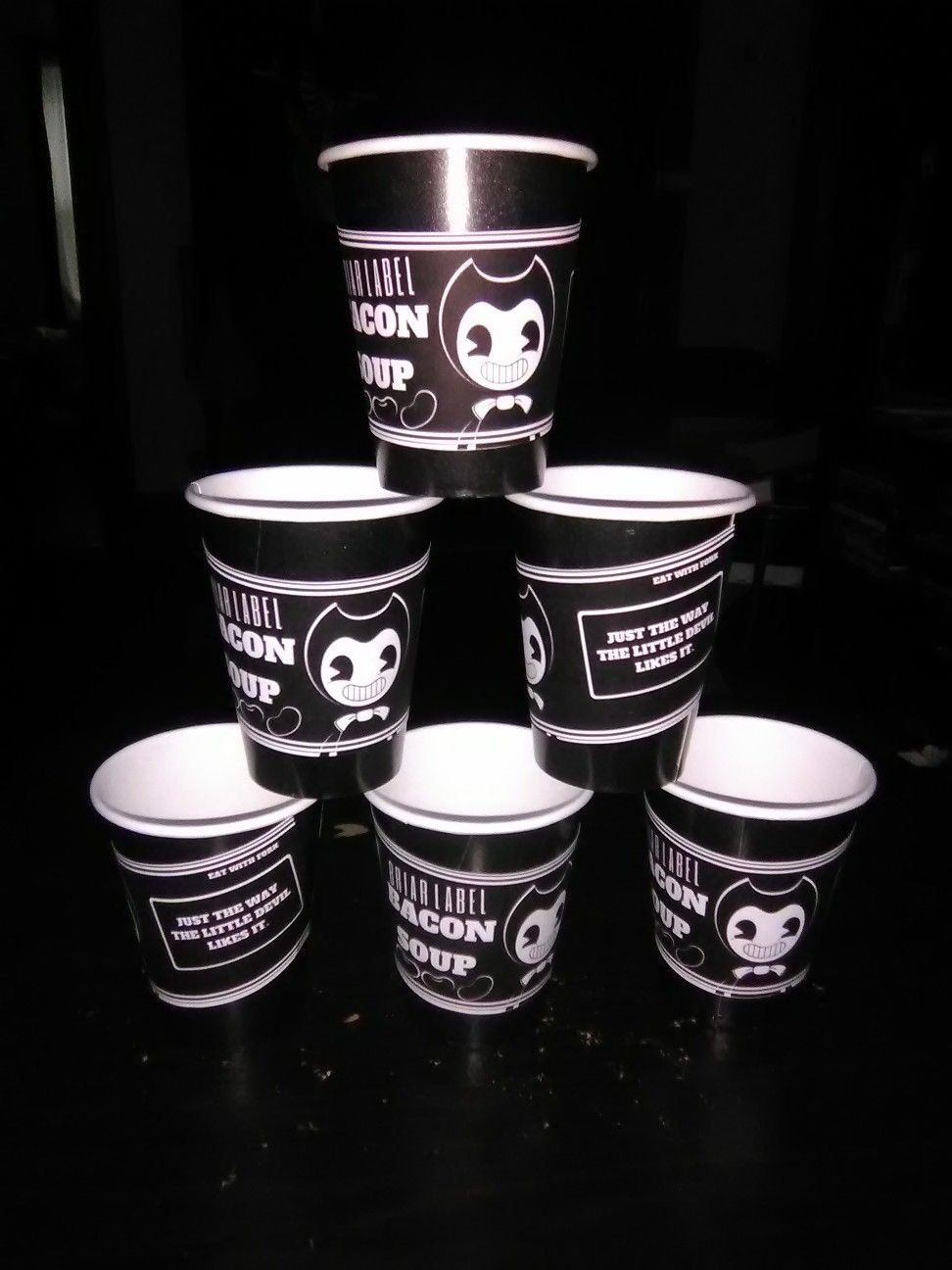 Bendy And The Ink Machine Bacon Soup Cups Made From Printed Paper