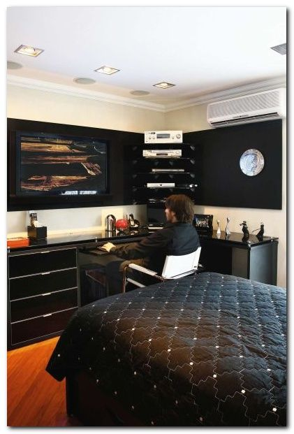 25 Masculine Mens Bedroom Ideas For Apartment Black Walls