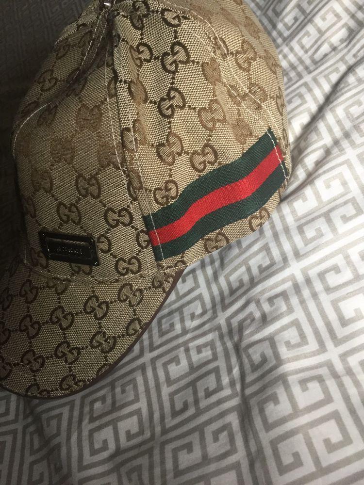 d85ec8a46ed73f Gucci Mens Women Baseball Hat Beige Khaki Canvas Cap Worn nice  fashion   clothing  shoes  accessories  mensaccessories  hats (ebay link)