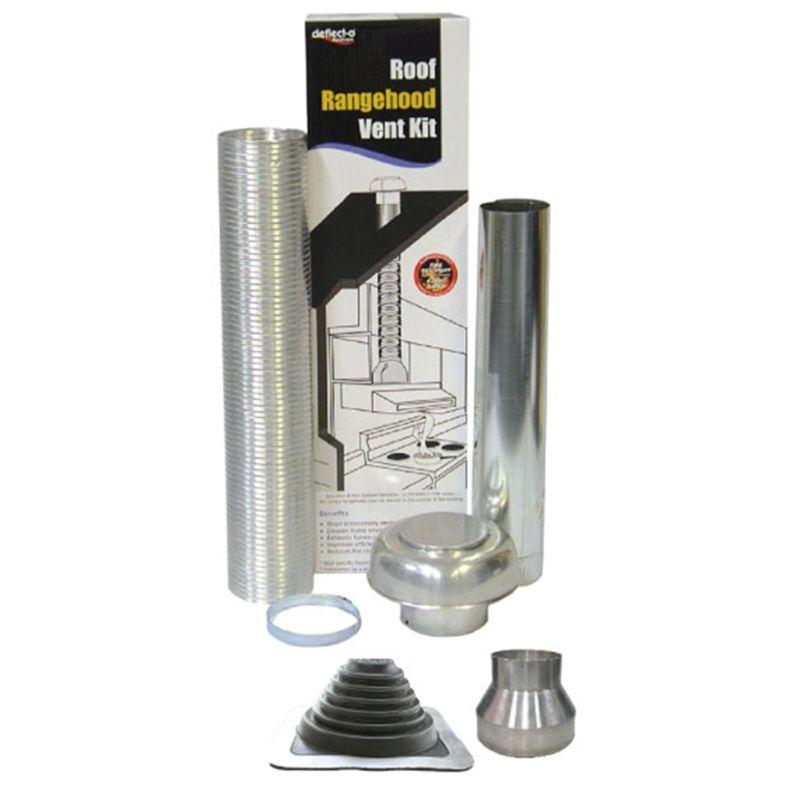 Deflecto 125-150mm Rangehood Metal Roof Venting Kit