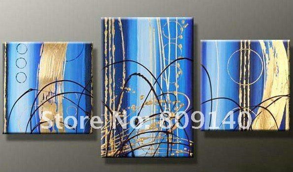 Cheap Oil Painting, Buy Quality Modern Abstract Oil Painting Directly From  China Paintings On Canvas Suppliers: Handpainted 3 Piece Blue Modern  Abstract Oil ...