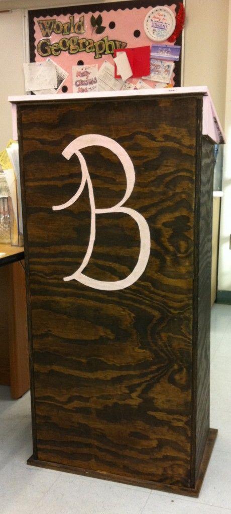 Plans For A Lectern Buy 1 Sheet 3 4 Plywood 1 1 4 Screws Wood Glue Paint Diy Classroom Ana White Teacher Podium