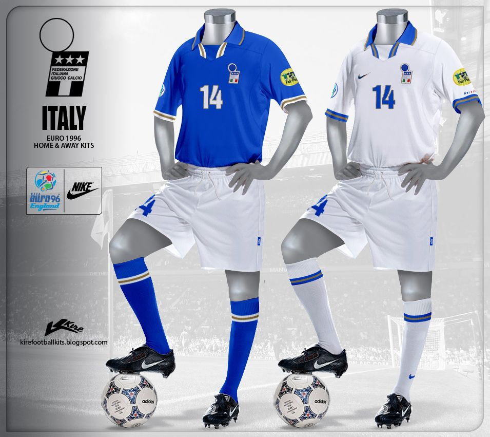 ed0c8281 Italy at Euro 96. | Football.Football.Football. | Football kits ...