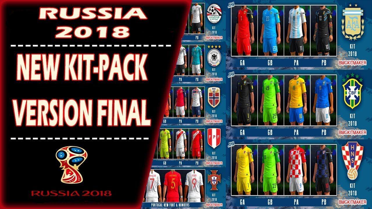 fd1d086d2db PES 2013 ○New Kits-Pack FIFA WORLD CUP RUSSIA 2018 V2.0 Final