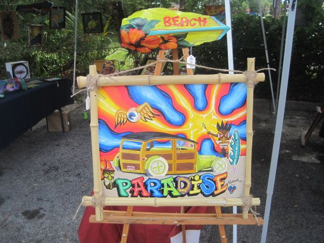 ratster surf tiki beach woody woodie surf art hot rod paradise von dutch posca rat fink