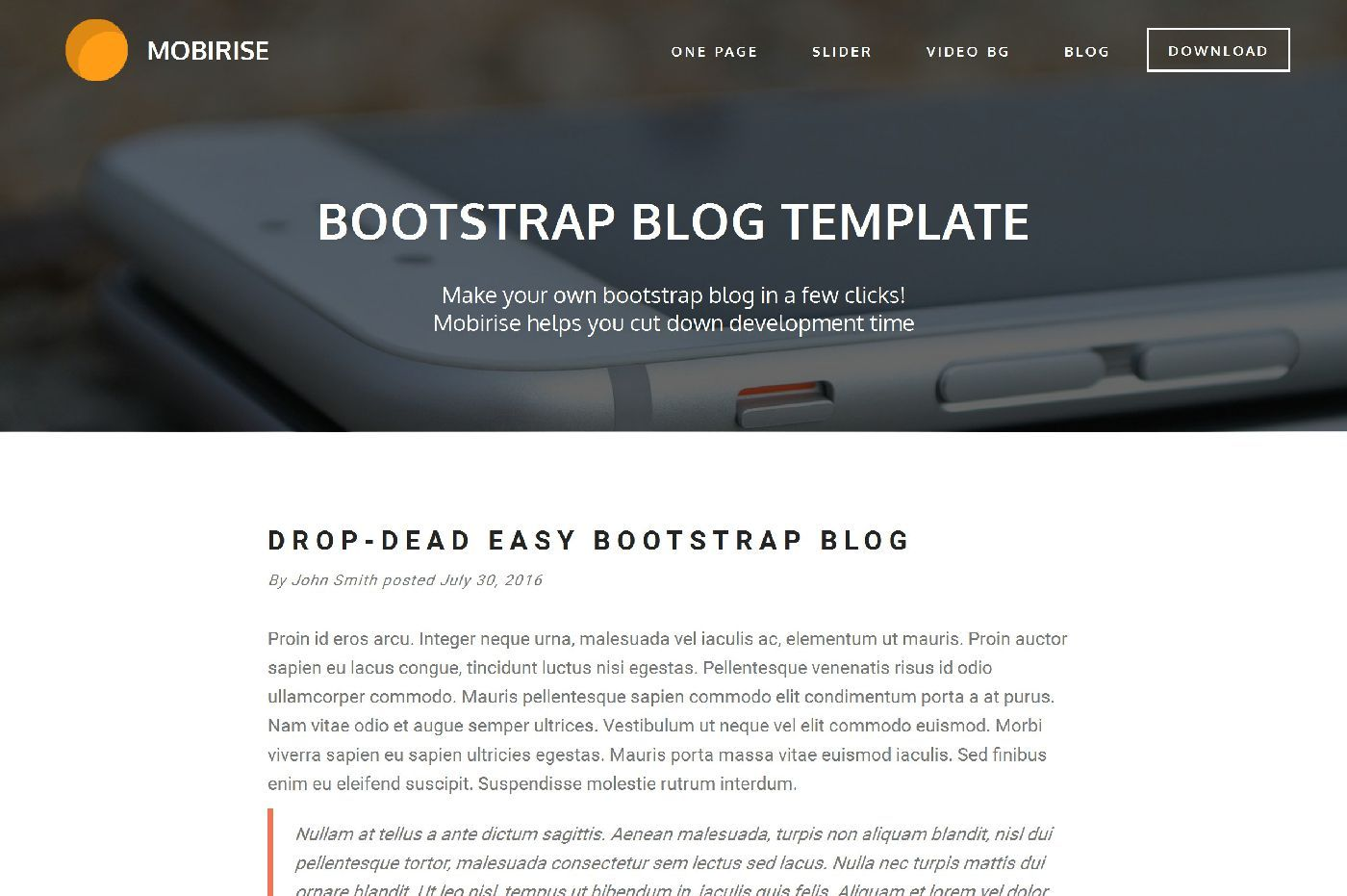 bootstrap single page template free html css author desktop | Home ...