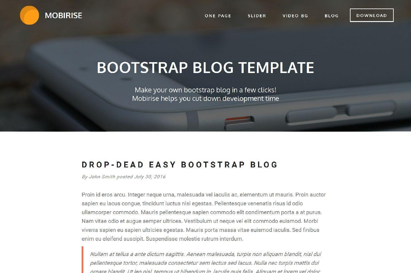 ShapeBootstrap - Free Bootstrap template | Free WordPress Theme ...