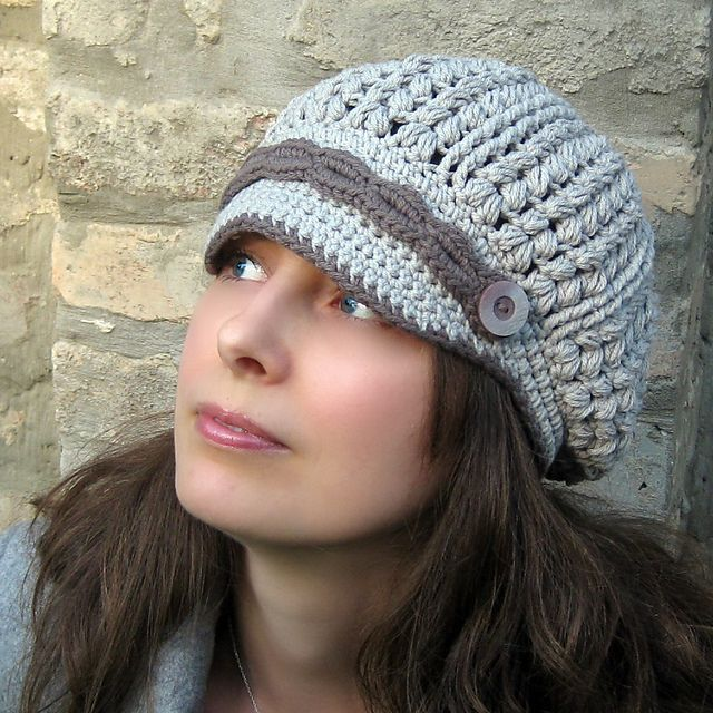 Sakina Newsboy Hat pattern by Viktoria Gogolak