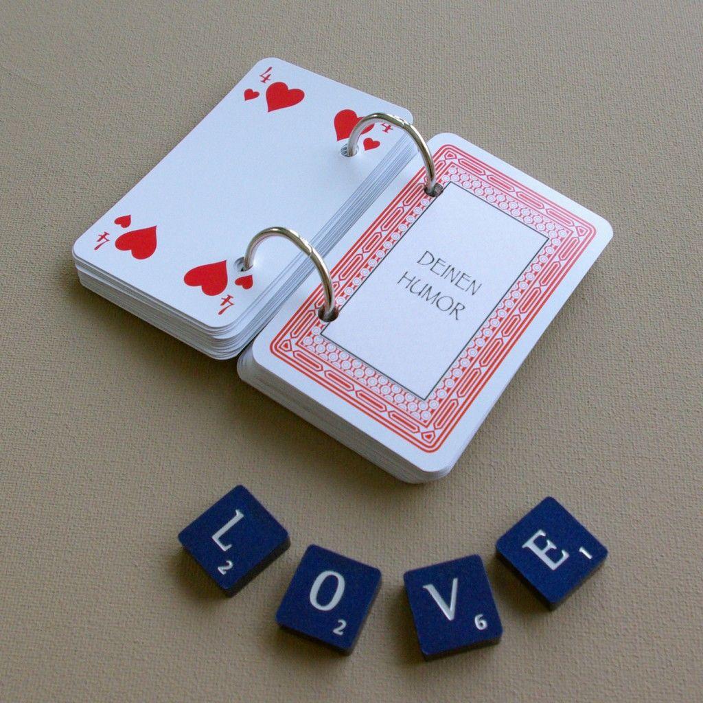 52 dinge die ich an dir liebe karten kartenspiel valentinstag geschenk selber basteln diy. Black Bedroom Furniture Sets. Home Design Ideas