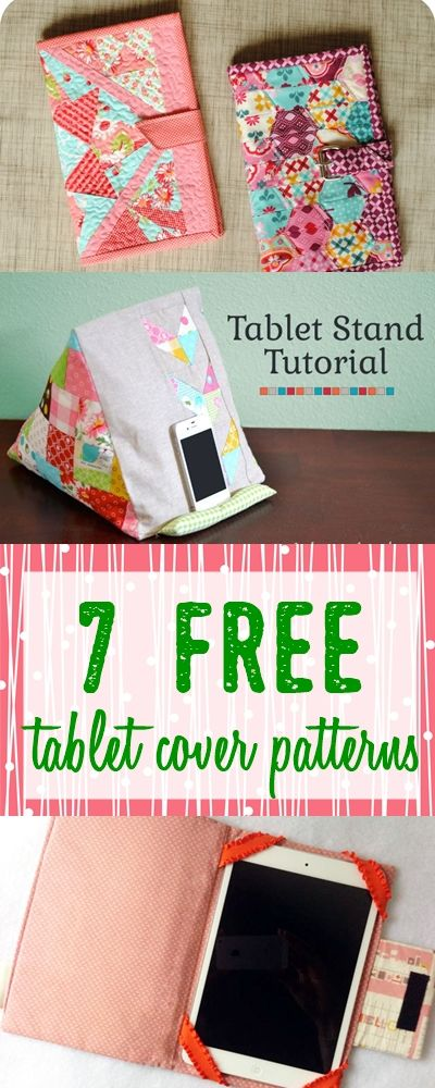7 Gorgeous Tablet Cases To Sew With Free Patterns Tablet Cases