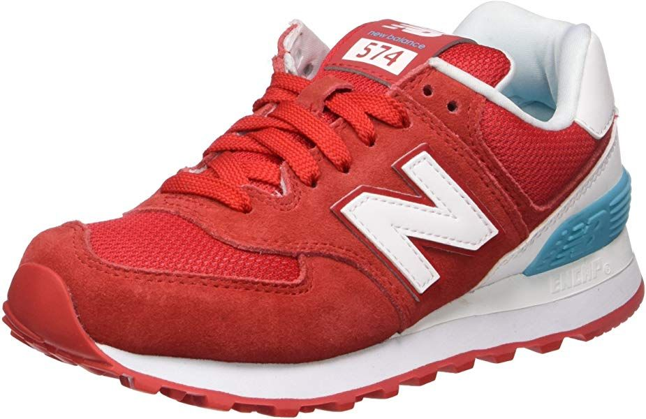 New Balance Damen 574 Suede Sneaker, Rot (Red), 37 EU ...